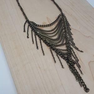 Antique Chain Fringe Y-Necklace